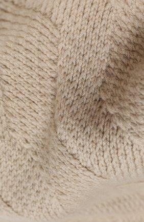 Мужской кашемировый шарф JOHNSTONS OF ELGIN бежевого цвета, арт. HAC02836 | Фото 2