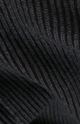Мужской кашемировый шарф JOHNSTONS OF ELGIN темно-серого цвета, арт. HAC02860 | Фото 2