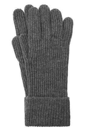 Мужские кашемировые перчатки JOHNSTONS OF ELGIN темно-серого цвета, арт. HAE02638 | Фото 1