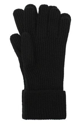 Мужские кашемировые перчатки JOHNSTONS OF ELGIN черного цвета, арт. HAE02638 | Фото 1 (Материал: Шерсть, Кашемир; Кросс-КТ: Трикотаж)