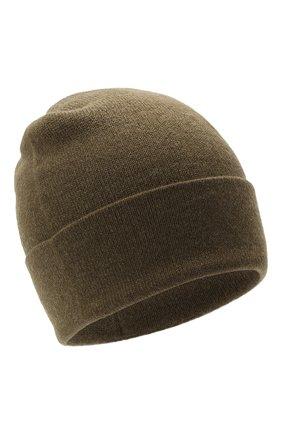 Мужская кашемировая шапка JOHNSTONS OF ELGIN хаки цвета, арт. HAE02655   Фото 1