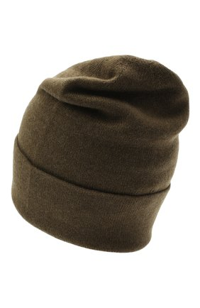 Мужская кашемировая шапка JOHNSTONS OF ELGIN хаки цвета, арт. HAE02655   Фото 2