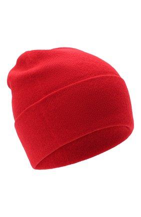 Мужская кашемировая шапка JOHNSTONS OF ELGIN красного цвета, арт. HAE02655 | Фото 1 (Материал: Кашемир, Шерсть; Кросс-КТ: Трикотаж)