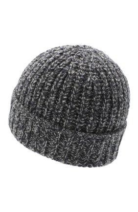 Мужская кашемировая шапка JOHNSTONS OF ELGIN темно-серого цвета, арт. HAT02850 | Фото 2