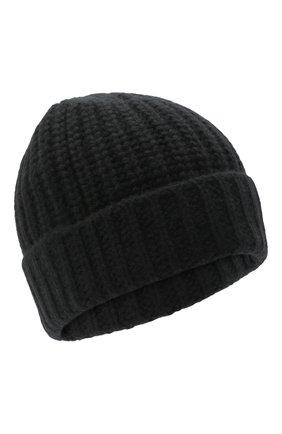 Мужская кашемировая шапка JOHNSTONS OF ELGIN черного цвета, арт. HAT02850 | Фото 1