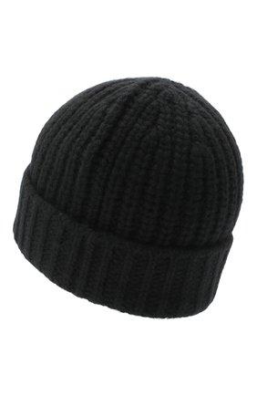 Мужская кашемировая шапка JOHNSTONS OF ELGIN черного цвета, арт. HAT02850 | Фото 2