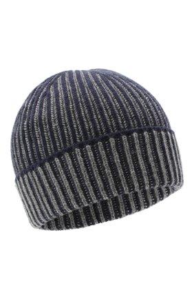 Мужская кашемировая шапка JOHNSTONS OF ELGIN темно-синего цвета, арт. HAY02843   Фото 1