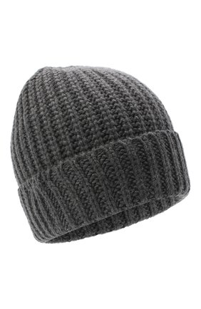 Мужская шапка из шерсти и кашемира JOHNSTONS OF ELGIN темно-серого цвета, арт. HBC00813 | Фото 1