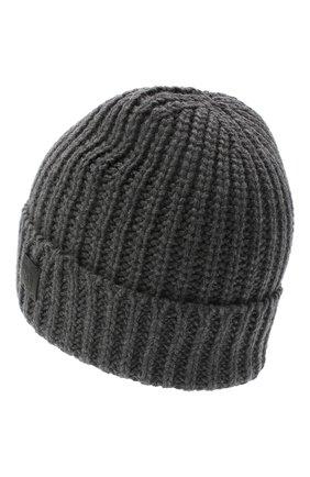 Мужская шапка из шерсти и кашемира JOHNSTONS OF ELGIN темно-серого цвета, арт. HBC00813 | Фото 2