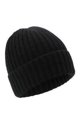 Мужская шапка из шерсти и кашемира JOHNSTONS OF ELGIN черного цвета, арт. HBC00813 | Фото 1