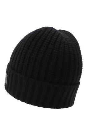 Мужская шапка из шерсти и кашемира JOHNSTONS OF ELGIN черного цвета, арт. HBC00813 | Фото 2