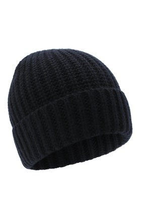 Мужская шапка из шерсти и кашемира JOHNSTONS OF ELGIN темно-синего цвета, арт. HBC00813   Фото 1