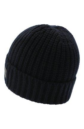 Мужская шапка из шерсти и кашемира JOHNSTONS OF ELGIN темно-синего цвета, арт. HBC00813   Фото 2