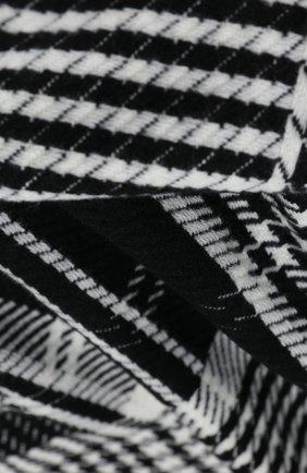 Мужской кашемировый шарф JOHNSTONS OF ELGIN черно-белого цвета, арт. WA001411 | Фото 2