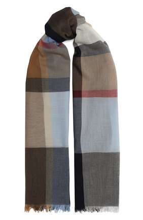 Мужской шерстяной шарф JOHNSTONS OF ELGIN разноцветного цвета, арт. WD001093 | Фото 1