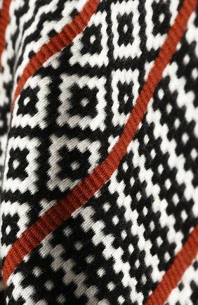 Мужской шерстяной шарф JOHNSTONS OF ELGIN черно-белого цвета, арт. WD001633 | Фото 2