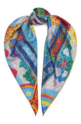 Женский шелковый платок easter KIRILL OVCHINNIKOV разноцветного цвета, арт. 90\EAS | Фото 1