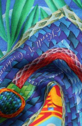 Женский шелковый платок easter KIRILL OVCHINNIKOV разноцветного цвета, арт. 90\EAS | Фото 2