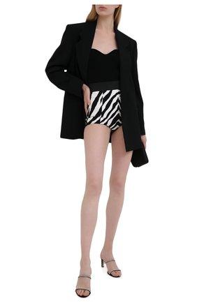 Женские хлопковые шорты DOLCE & GABBANA черно-белого цвета, арт. FTAG1T/FSFJ2 | Фото 2