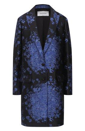 Женское пальто VALENTINO синего цвета, арт. UB3CA5605QM | Фото 1