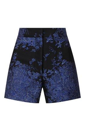 Женские шелковые шорты VALENTINO синего цвета, арт. UB3RF1H55QM   Фото 1