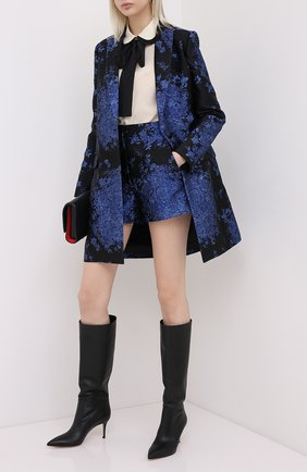 Женские шелковые шорты VALENTINO синего цвета, арт. UB3RF1H55QM   Фото 2