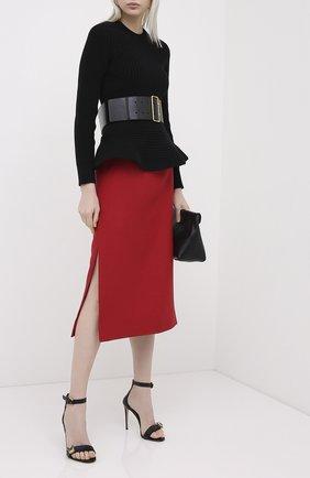 Женская юбка VALENTINO красного цвета, арт. UB3RA6B51CF   Фото 2