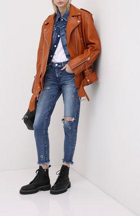 Женская джинсовая куртка MOUSSY синего цвета, арт. 025DSC12-2380 | Фото 2
