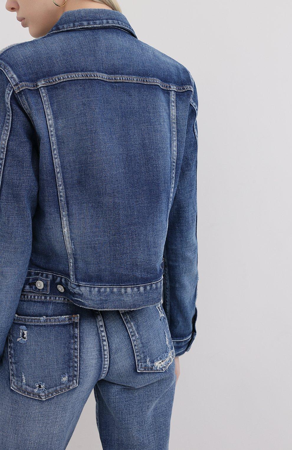 Женская джинсовая куртка MOUSSY синего цвета, арт. 025DSC12-2380 | Фото 4