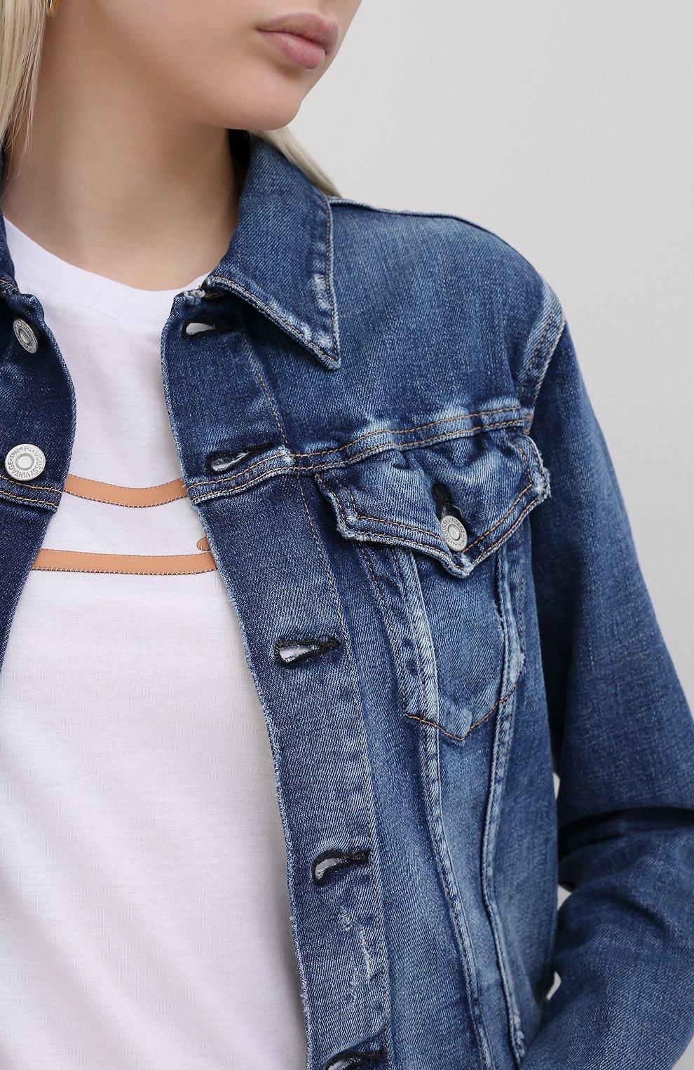 Женская джинсовая куртка MOUSSY синего цвета, арт. 025DSC12-2380 | Фото 5
