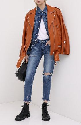 Женские джинсы MOUSSY голубого цвета, арт. 025DSC12-2160 | Фото 2