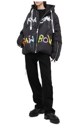 Женский пуховая куртка KHRISJOY черного цвета, арт. AFPW001/NYGR | Фото 2