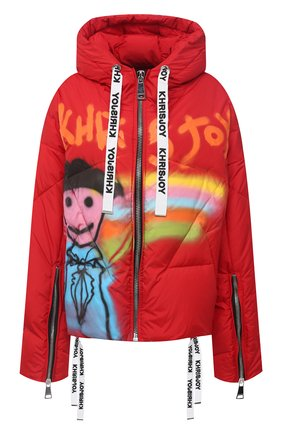 Женский пуховая куртка KHRISJOY красного цвета, арт. AFPW001/NYGR | Фото 1