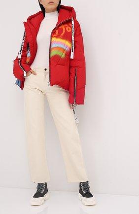 Женский пуховая куртка KHRISJOY красного цвета, арт. AFPW001/NYGR | Фото 2