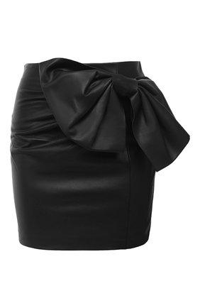 Женская кожаная юбка REDVALENTINO черного цвета, арт. UR3NI00S/5BW | Фото 1