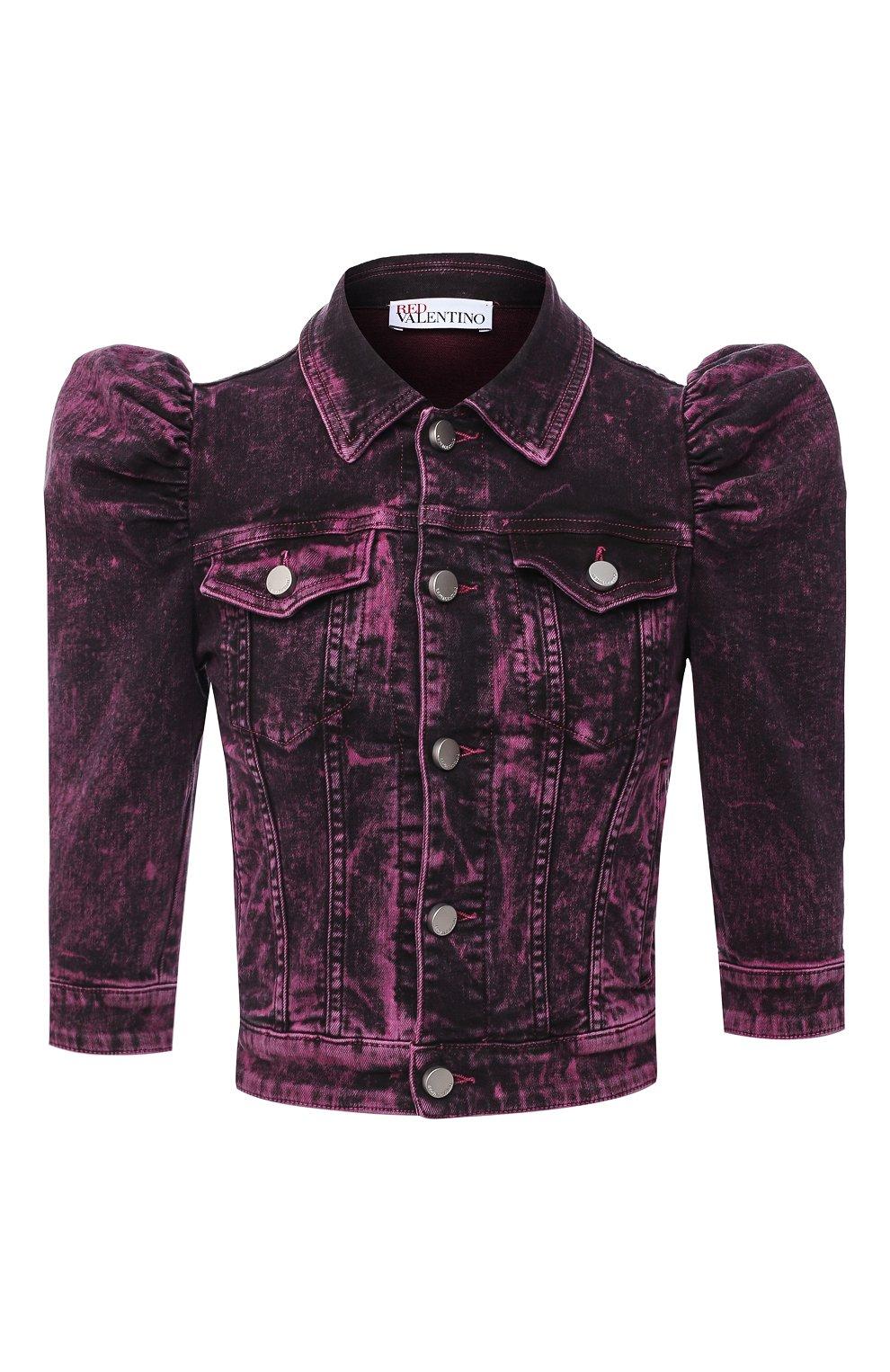 Женская джинсовая куртка REDVALENTINO розового цвета, арт. UR3DC00Y/58V | Фото 1