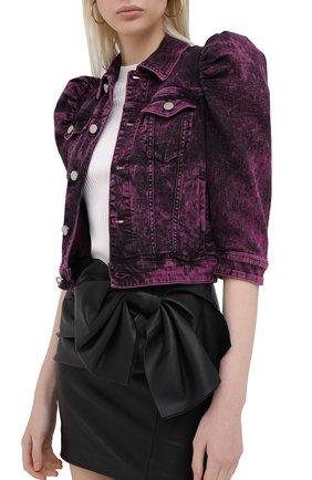 Женская джинсовая куртка REDVALENTINO розового цвета, арт. UR3DC00Y/58V | Фото 3