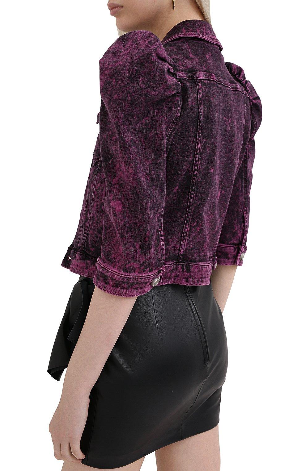 Женская джинсовая куртка REDVALENTINO розового цвета, арт. UR3DC00Y/58V | Фото 4