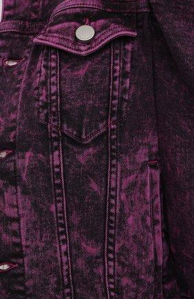 Женская джинсовая куртка REDVALENTINO розового цвета, арт. UR3DC00Y/58V | Фото 5
