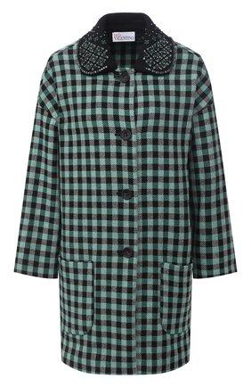 Женское шерстяное пальто REDVALENTINO зеленого цвета, арт. UR3CAB90/55U   Фото 1