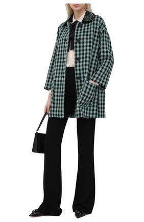Женское шерстяное пальто REDVALENTINO зеленого цвета, арт. UR3CAB90/55U   Фото 2