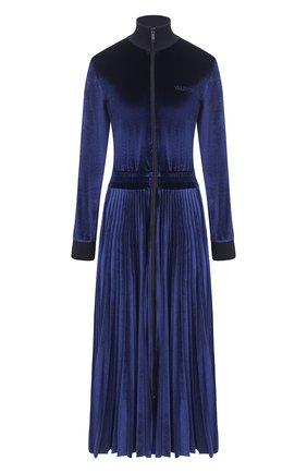 Женское платье-миди VALENTINO синего цвета, арт. UB3MJ02H5PQ | Фото 1