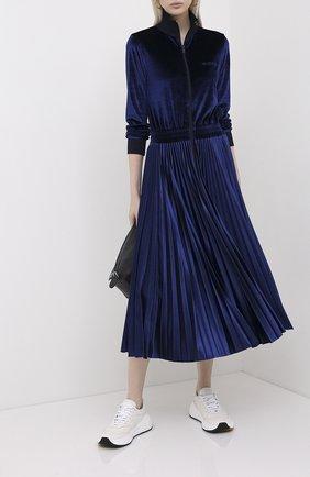 Женское платье-миди VALENTINO синего цвета, арт. UB3MJ02H5PQ | Фото 2