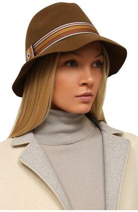 Женская фетровая шляпа ingrid LORO PIANA коричневого цвета, арт. FAI7947 | Фото 2