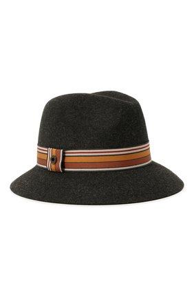 Женская фетровая шляпа ingrid LORO PIANA серого цвета, арт. FAI7947 | Фото 1 (Материал: Шерсть)