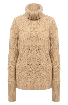 Женская кашемировый свитер LORO PIANA бежевого цвета, арт. FAL2081 | Фото 1