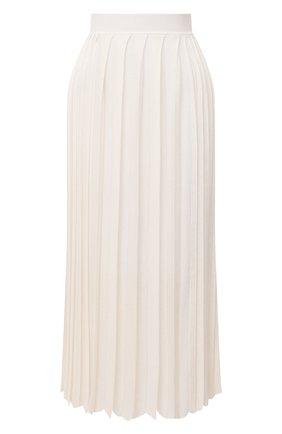 Женская юбка из кашемира и шелка LORO PIANA белого цвета, арт. FAL2186 | Фото 1