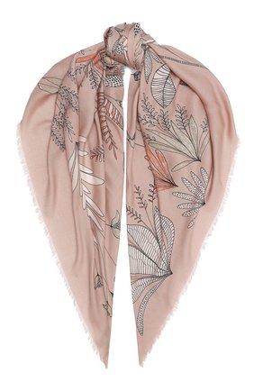 Женская шаль из кашемира и шелка  scialle LORO PIANA розового цвета, арт. FAL2421 | Фото 1