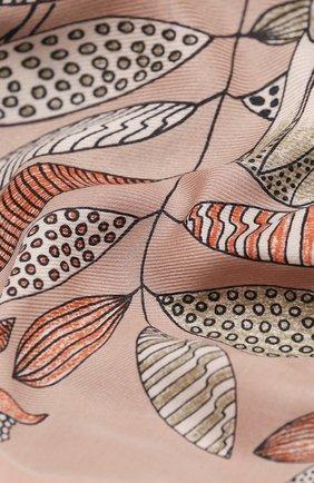 Женская шаль из кашемира и шелка  scialle LORO PIANA розового цвета, арт. FAL2421 | Фото 2