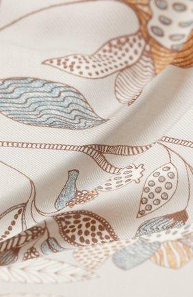 Женская шаль из кашемира и шелка  scialle LORO PIANA светло-серого цвета, арт. FAL2421 | Фото 2